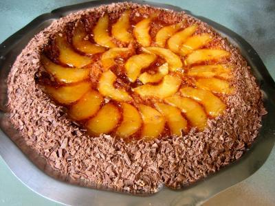 gâteau fruits : Gâteau aux poires et sa crième au grand Marnier