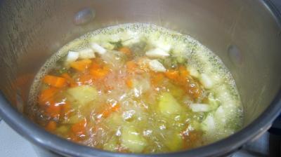 Epinards, carottes, poireau en velouté - 6.4