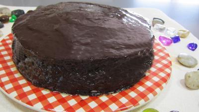 Cheese cake : Assiette de cheese cake au chocolat bananes