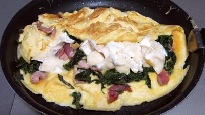 Recette Omelette au chèvre et pissenlits