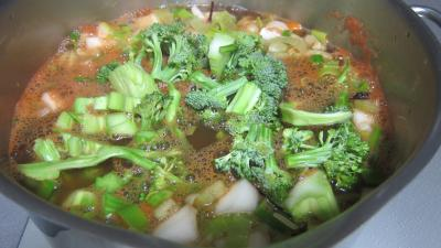 Recette Soupe de brocolis et légumes