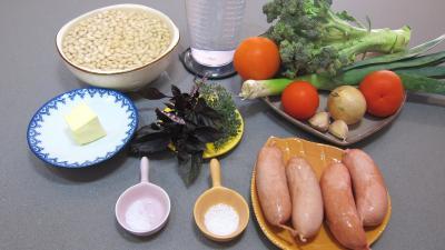 Ingrédients pour la recette : Haricots blancs aux tomates
