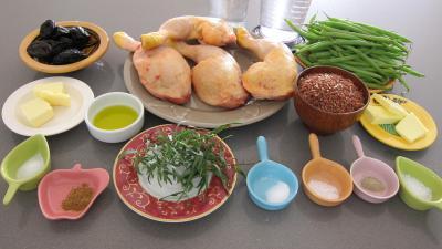 Ingrédients pour la recette : Cuisses de poulet à l'estragon
