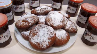 huile de colza : Assiette de beignets Hannouka
