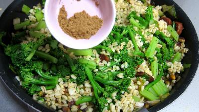 Recette Blé aux brocolis et aux pistaches