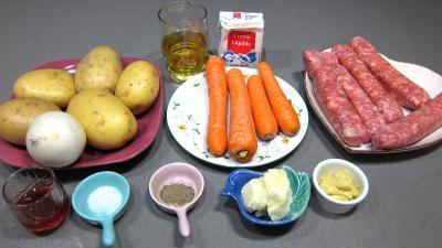 Ingrédients pour la recette : Saucisses moutarde