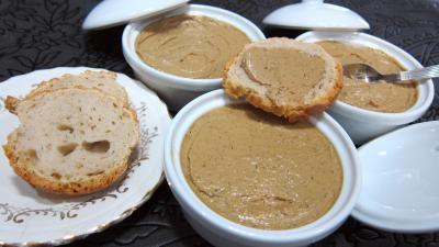 mousse : Terrines de foies de volaille au Marsala