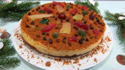 Dessert à base de fromage blanc : Gâteau fromage blanc aux spéculoos et fruits confits