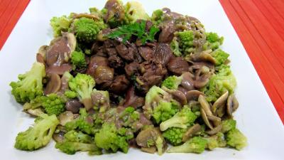 Recette Assiette de coeurs de carnard, légumes et sauce béchamel au vin rouge