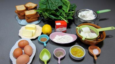 Ingrédients pour la recette : Epinards à la crème fouettée