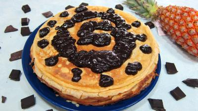 Image : recette Gâteau de crêpes Hawaïen
