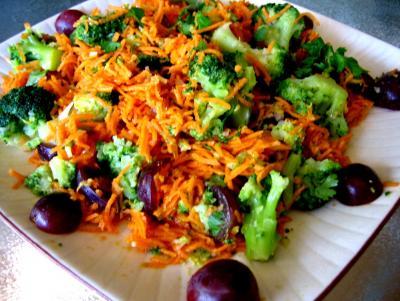 Recette Assiette de carottes à la mandarine et aux raisins