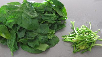 Crêpes farcies aux brocolis, épinards et champignons noirs - 1.3