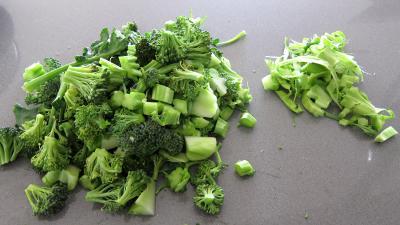Crêpes farcies aux brocolis, épinards et champignons noirs - 2.3