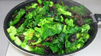 Crêpes farcies aux brocolis, épinards et champignons noirs - 5.4