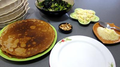 Crêpes farcies aux brocolis, épinards et champignons noirs - 9.1