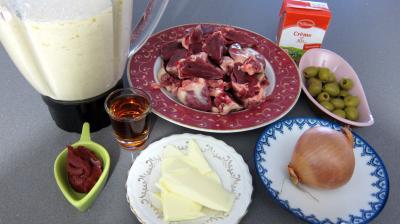 Ingrédients pour la recette : Crêpes farcies aux coeurs de dinde