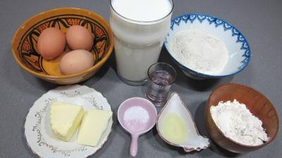 Ingrédients pour la recette : Crêpes au sarrasin