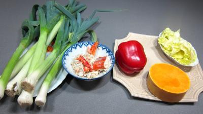 Ingrédients pour la recette : Poireaux en salade