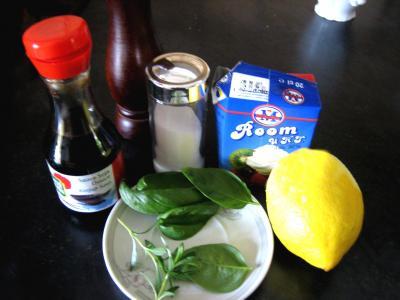 Ingrédients pour la recette : Sauce crème au citron