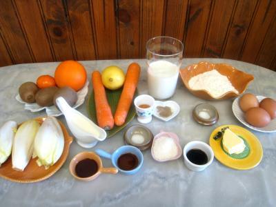 Ingrédients pour la recette : Salade de kiwis et sa sauce à la noix de coco