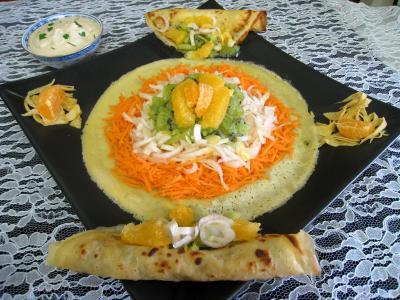 Image : Salade de kiwis et sa sauce à la noix de coco