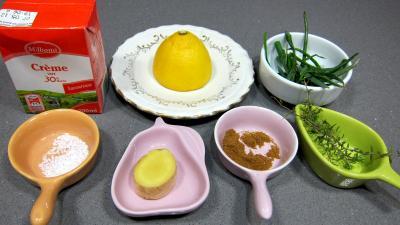 Ingrédients pour la recette : Sauce au citron et ciboulette