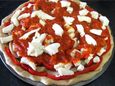 Pizza aux artichauts et mozzarella - 10.1