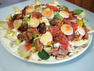 Image : Salade aux restes de pommes de terre vapeur et chèvre