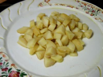 Salade aux restes de pommes de terre vapeur et chèvre - 4.4
