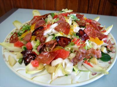 Salade aux restes de pommes de terre vapeur et chèvre - 6.2