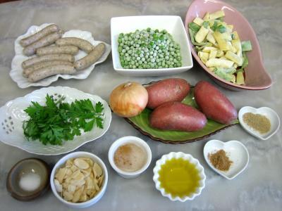 Ingrédients pour la recette : Saucisses au miel et aux amandes