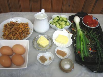 Ingrédients pour la recette : Oeufs au plat aux girolles