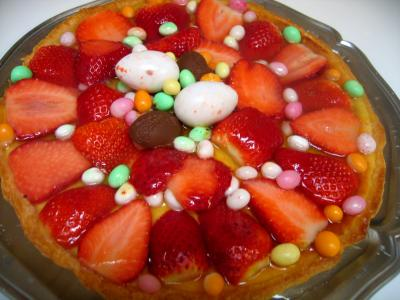 Recette Tarte de Pques aux fraises et  la brousse
