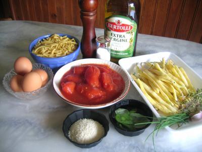 Ingrédients pour la recette : Macaronis aux oeufs