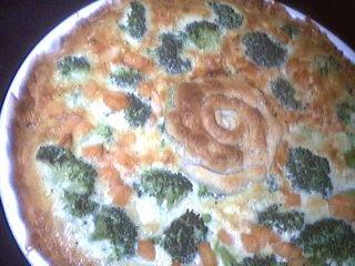 Recette Quiche aux brocolis et saumon