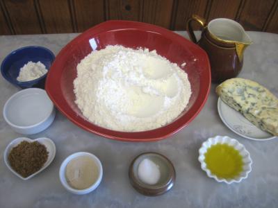 Ingrédients pour la recette : Fougassettes à la Fourme d'Ambert