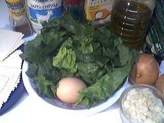 Ingrédients pour la recette : Lasagnes aux épinards