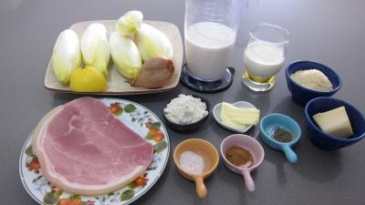 Ingrédients pour la recette : Endives au jambon