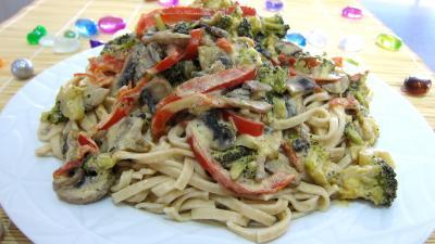 Tagliatelle au poivron et champignons - 8.1