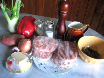 Ingrédients pour la recette : Potage de fenouil et poivron