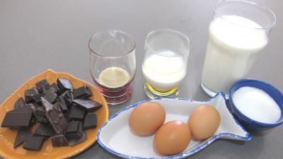 Ingrédients pour la recette : Crème anglaise au chocolat