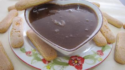 Recette Saladier de crme anglaise au chocolat