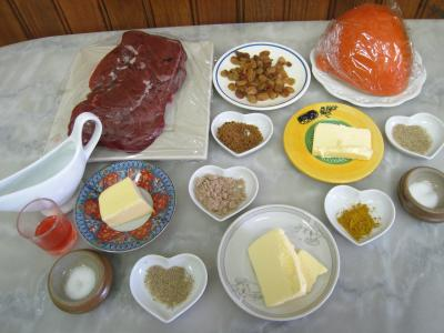 Ingrédients pour la recette : Foie de veau aux raisins secs et au potimarron