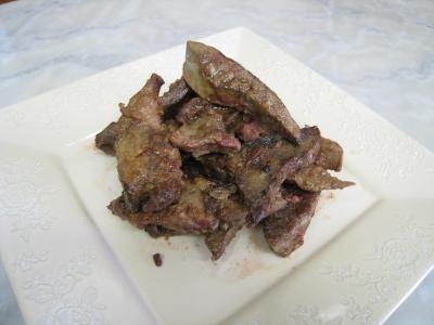 Foie de veau aux raisins secs et au potimarron - 14.1
