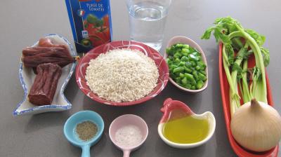 Ingrédients pour la recette : Riz Espagnole