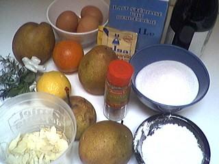 Ingrédients pour la recette : Pudding de romarin aux poires