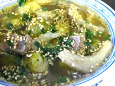 soupe de volailles : Assiette de soupe de magret façon chinoise