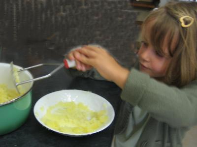 Pintade à la purée de maïs et champignons - 14.2