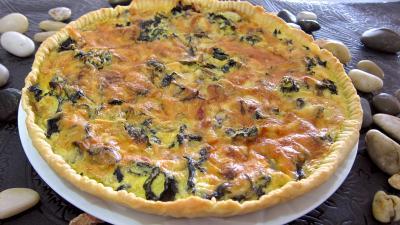 fromage de brebis : Tarte de champignons noirs